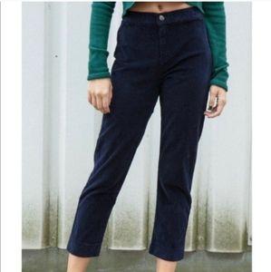 Brandy Melville Black Elastic Waist Zipper Trouser